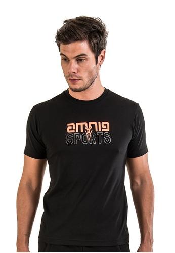 AMNIG black Amnig Men Sport Tee (Black) 9AEE4AA21AD278GS_1