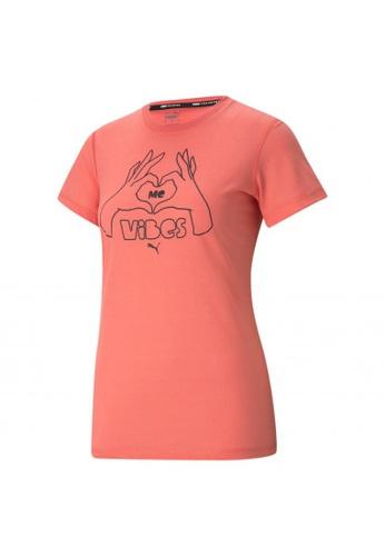 PUMA green PUMA Performance Slogan Short Sleeve Women's Training Tee 8DF4FAAE4C4663GS_1