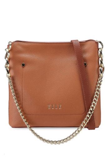 ELLE brown Rikki Shoulder Bag E40A8AC35A62EEGS_1