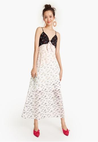 Pomelo multi Maxi Multicolored Floral Cami Dress 522C0AAF8D9155GS_1