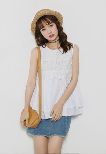 Shopsfashion white Adora Blouse in White SH656AA68YAXSG_1