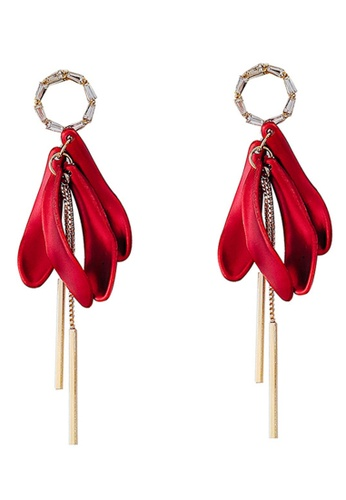 Sunnydaysweety red Red Petals Drop Earrings CA030204 DAEFAAC1CD44FBGS_1