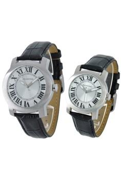 Set of 2 Watches: Analog Watch 15WS-EML-EMY-LS