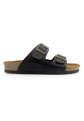 SoleSimple black Athens - Black Leather Sandals & Flip Flops A2D21SH170E016GS_1