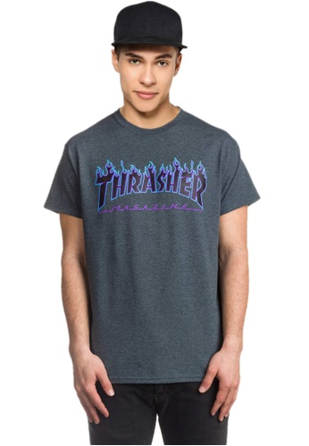 5989aa5479d9 Buy Thrasher Thrasher Flame Tee Dark Heather Online | ZALORA Malaysia