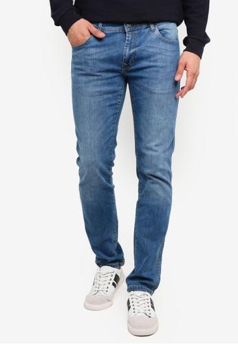 OVS 藍色 Trend 丹寧修身牛仔褲 690C8AACC524A4GS_1