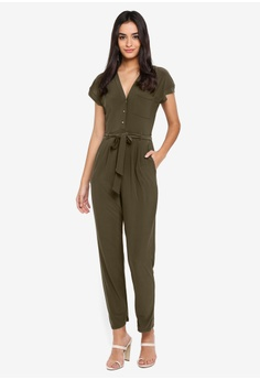 7af5254991b 65% OFF Dorothy Perkins Button Through Jumpsuit RM 229.00 NOW RM 80.90  Sizes 12 14