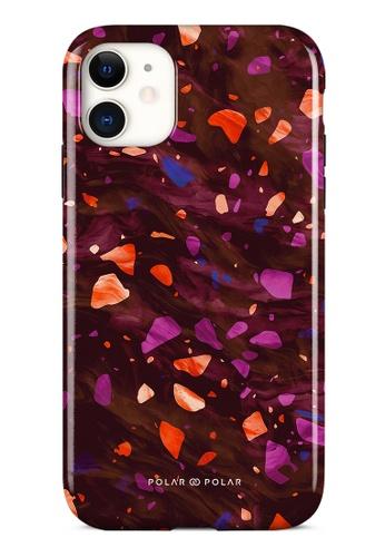 Polar Polar red Paprika Terrazzo Gem Dual-Layer Tough Case Glossy For iPhone 11 9A27FACFAF2B82GS_1