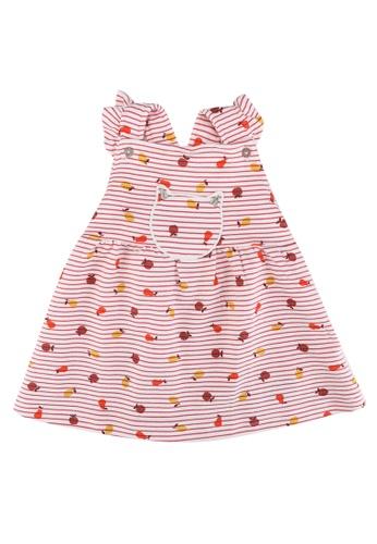 DU PAREIL AU MÊME (DPAM) pink Pink Striped Pinafore Dress 44F3DKAF3FC4CDGS_1