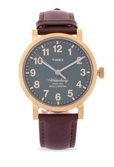 646a81b49ac2 TIMEX brown Waterbury Leather Watch 582F4AC338632EGS 1