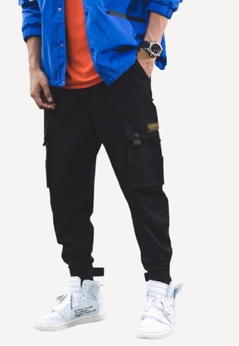 hk-ehunter black Men's Pocket Pants 59C68AAF64D411GS_1
