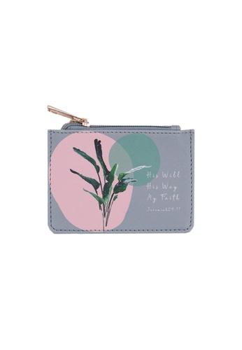 Klosh grey and pink Faith Collection - My Faith My Will My Way Card Case B1C24AC5D55B4FGS_1