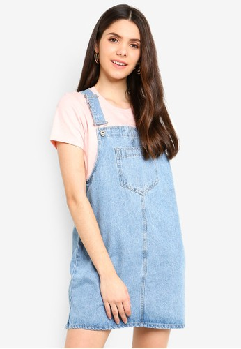 Factorie blue Classic Denim Overall Dress 7B773AA4579327GS_1