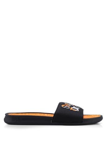 Superdry black and multi Crewe Camo Slides D2B57SHC8D7E0FGS_1