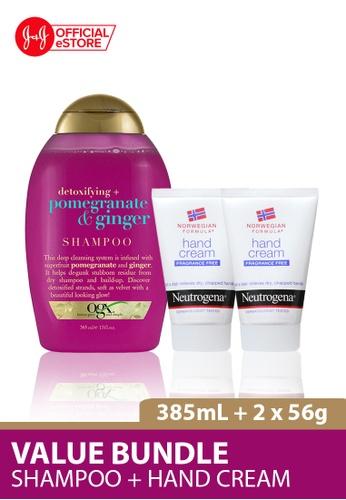 OGX OGX Pomegranate Ginger Shampoo 385ml + Neutrogena Norwegian Formula Hand Cream Fragrance Free 56g x  2 3E39FBE349FBA8GS_1