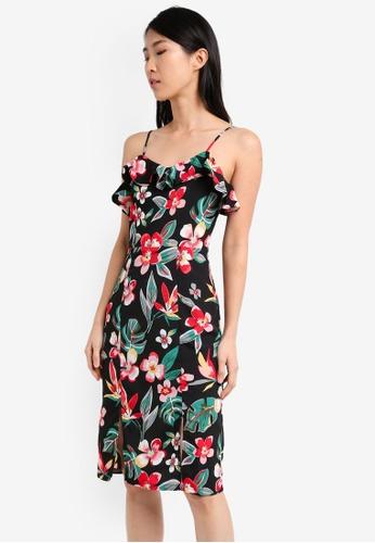 ZALORA multi Cami Dress with Frill Neckline B5E8EAAEED69D4GS_1
