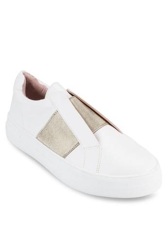 Tangle 金屬感橫帶撞色休esprit 台北閒鞋, 女鞋, 鞋