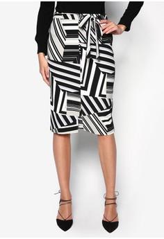 Petite Aztec Print Skirt