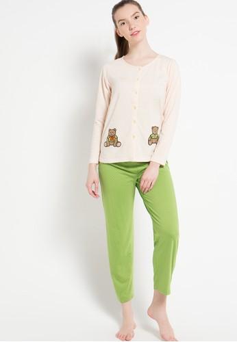 Puppy green and beige Print Tedy Bear PU643AA27EPCID_1