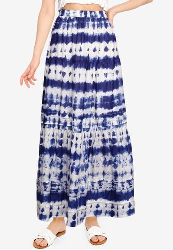Mango blue Tie-Dye Cotton Skirt 56154AA05A360FGS_1