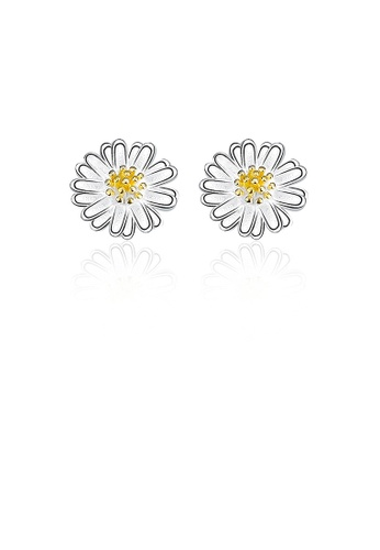 Glamorousky silver 925 Sterling Silver Simple Little Daisy Stud Earrings 2FC07ACF719E80GS_1