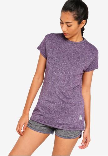 UniqTee purple Slim Crew Neck Tee 14DBEAADBBDBADGS_1