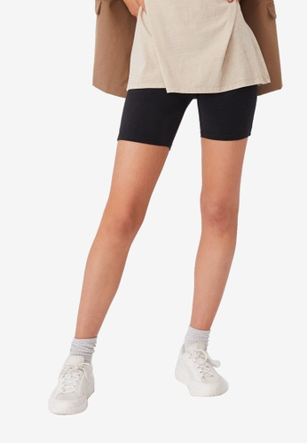 Cotton On black The Pip Jersey Bike Shorts 7DDC5AA802C502GS_1