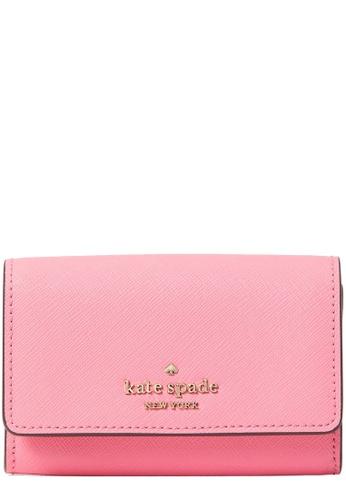 Kate Spade pink Kate Spade Laurel Way Christine Card Holder in Pink Starburst D3C7AAC5B67A46GS_1
