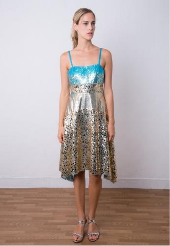 9c34a18ff2cb9 Shiny Beads Cocktail Short Dress