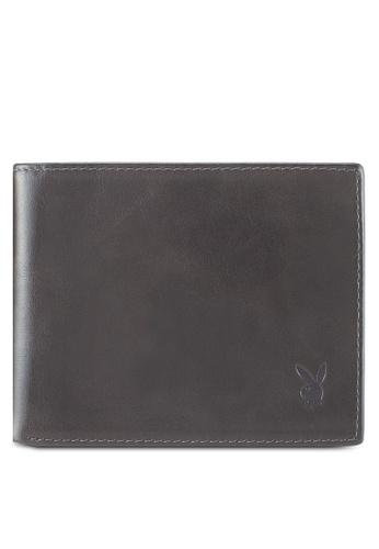 Playboy grey Playboy Genuine Leather Wallet 0D4D3AC7D02E61GS_1