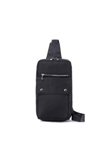 GreyPlus black POTEL Travel Crossbody Bag 917A4AC5EADC44GS_1