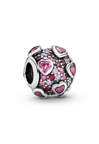 PANDORA silver Pandora Raised Hearts Pavé Charm D9D00AC2520A42GS_1