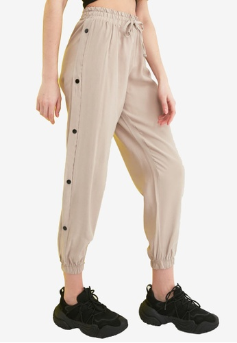 Trendyol beige Button Down Side Pants CD27FAAF2A16A0GS_1