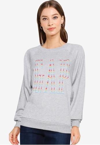 GAP grey Gap Raglan Sleeves Sweatshirt 93EA0AA1F3E235GS_1