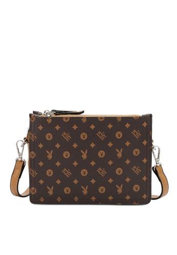 PLAYBOY BUNNY brown Sling Bag 599DEAC27BE1F2GS_1