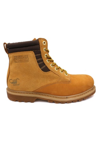 midzone yellow SCORPION Genuine Leather Safety Boots B2608 Honey C3DD2SHBCC631EGS_1