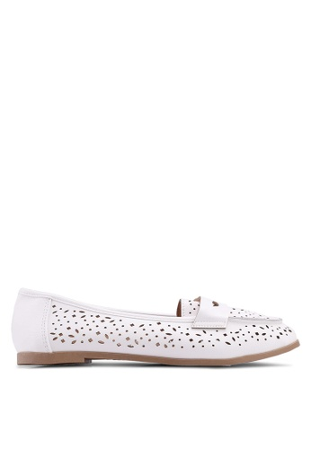 Dorothy Perkins white Wide White Lana Loafers 7E492SH88EE2B6GS_1