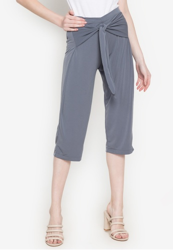 Ashley Collection grey Tie Front Culottes CBE12AAB68B61BGS_1