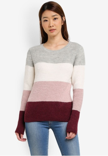 Dorothy Perkins pink and multi Stripe Jumper DO816AA0S4TFMY_1