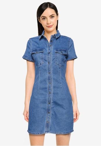 Noisy May blue Joy Dress DF338AA965B67AGS_1