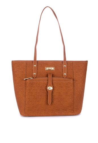 c71c910e0a7d92 Shop CLN Befitting Textured Tote Bag Online on ZALORA Philippines