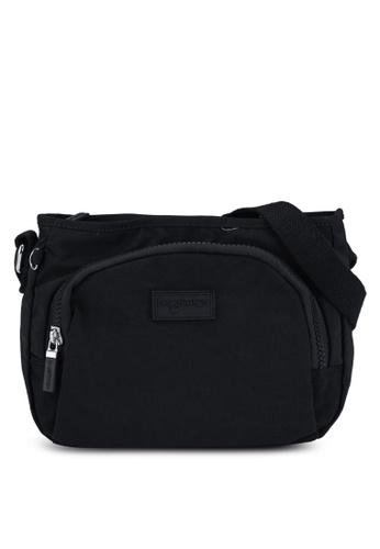 Bagstationz black Crinkled Nylon Sling Bag 7260DAC348C6ACGS_1