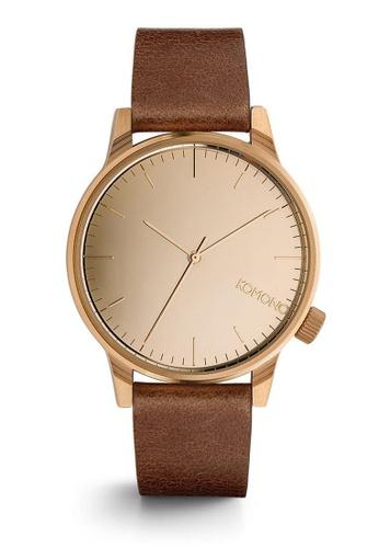 KOMONO brown Winston Mirror Winston Mirror Rose Gold Cognac Watch KO163AC0T0T5MY_1