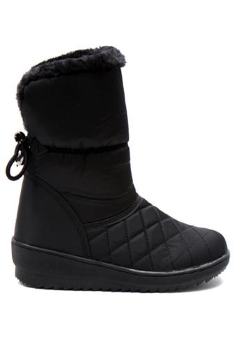 Crystal Korea Fashion 黑色 韓國製冬季新款百搭保暖靴 C2CC0SH313CD72GS_1