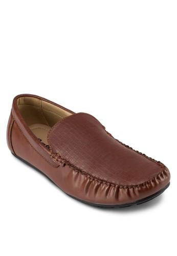 Moo 仿皮暗紋莫卡辛鞋, 鞋esprit台灣門市, 鞋