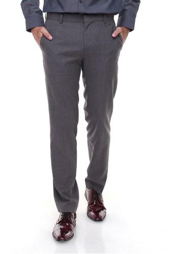 Johnwin grey Johnwin - Slim Fit - Celana Formal - Tanpa Biku - Abu JO804AA89MXYID_1
