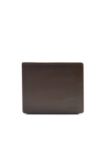 Santa Barbara Polo & Racquet Club brown Santa Barbara Polo & Racquet Club Leather Bifold Wallet F9B25AC534F09BGS_1