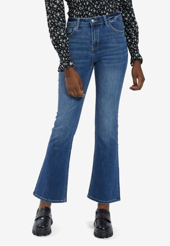 PIMKIE blue Wash Flare Jeans A61D3AAFC7D33AGS_1