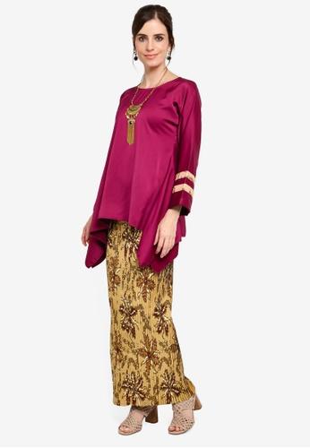 Melayu Manis Batik from Yans Creation in Red