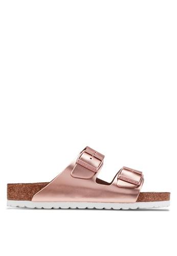 Birkenstock brown Arizona Metallics Sandals BI090SH27COQMY_1